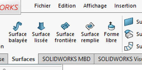 surface frontiere solidworks