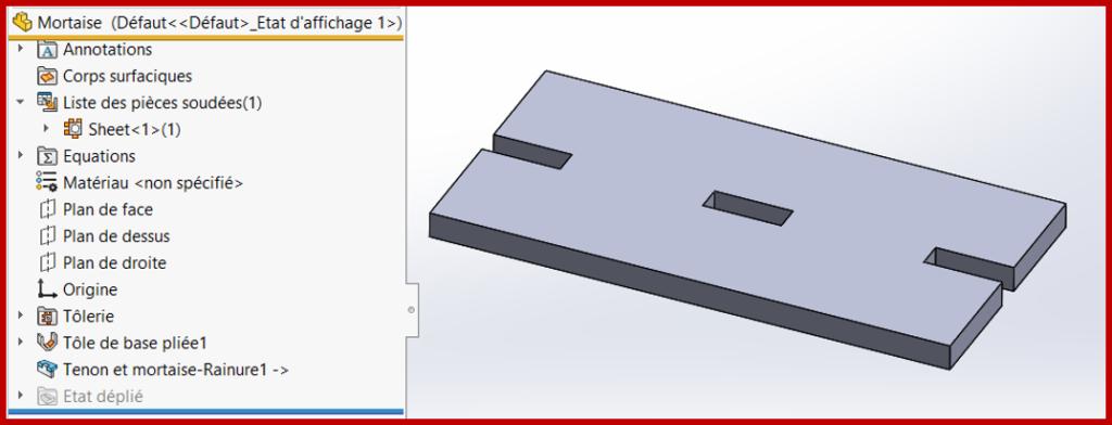 piece mortaise solidworks