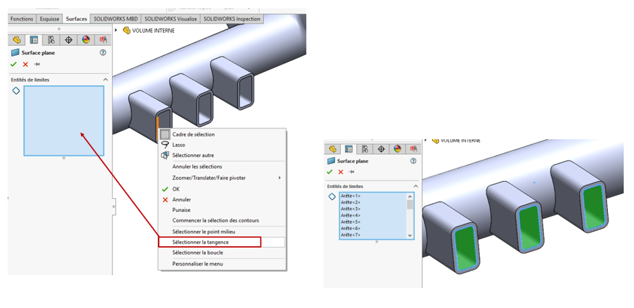 tangence solidworks