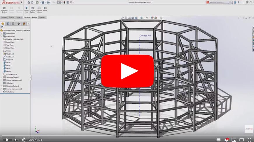 systemes de structures sur solidworks