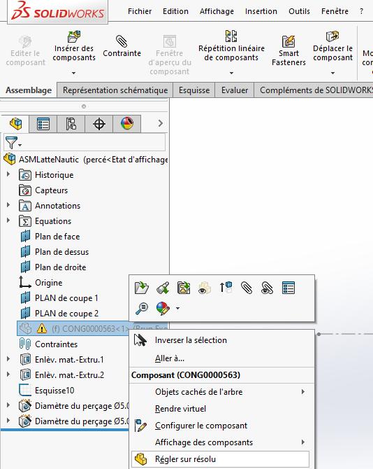l'option «Régler sur résolu» en pointant vers les nouveaux fichiers et ou emplacements.