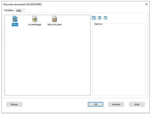 fichier piece solidworks