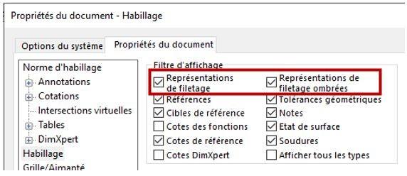 representation filetage solidworks