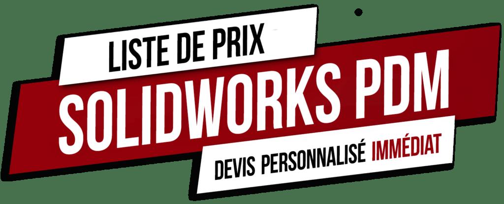 prix solidworks pdm