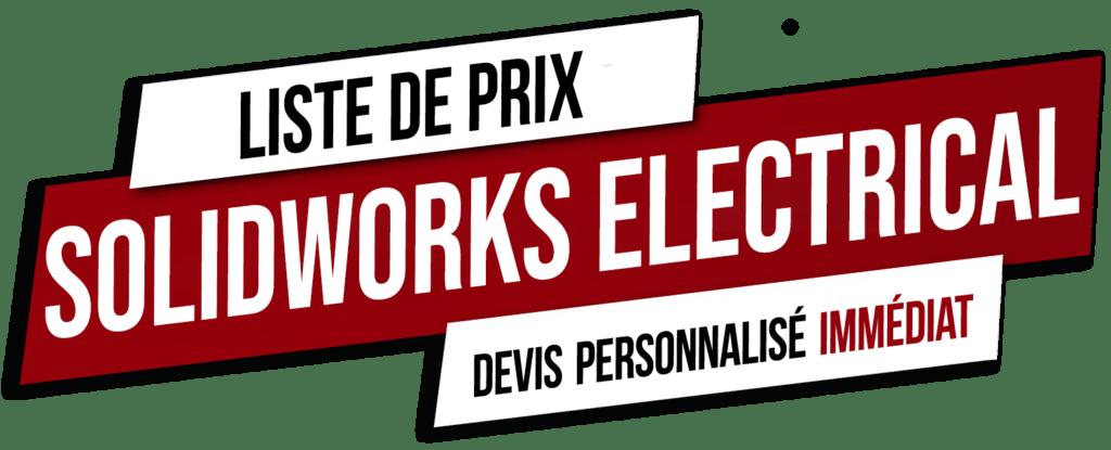 Bouton Liste de Prix SolidWorks Electrical
