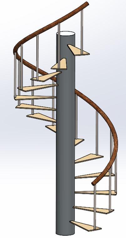 main courante escalier solidworks