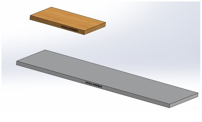 piece multicorps solidworks