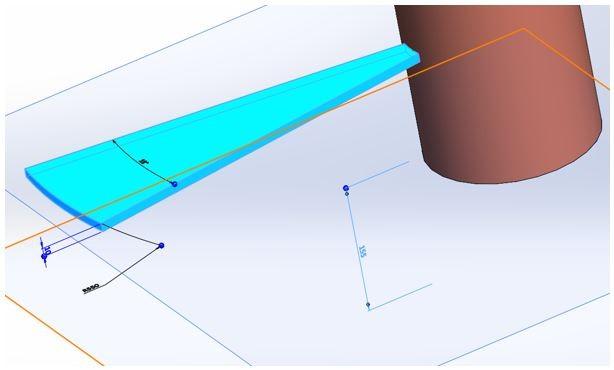 plan marche escalier solidworks