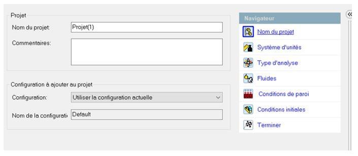 configuration projet flow simulation
